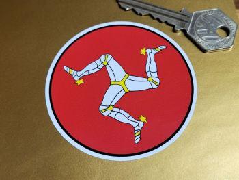 Isle of Man Circular Stickers - Set of 4