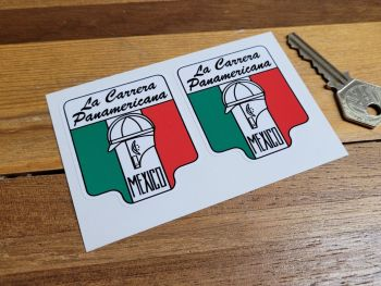 "La Carrera Panamericana Mexico Small Stickers 2"" Pair"