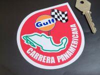 "Carrera Panamericana Gulf Circuit Sticker 3.5"""