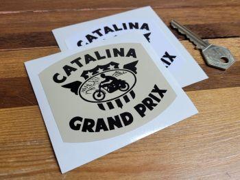 "Catalina Grand Prix Sticker - Black & Beige or Black & White - 3"""