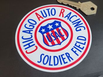 """Chicago Auto Racing Soldier Field Sticker - 4"""" or 6"""""""