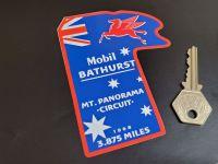 "Mobil Bathurst 1968 Circuit Style Car Sticker 4.5"""