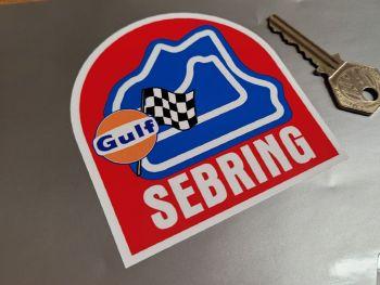 "Sebring & Gulf Race Circuit Sticker 3.5"""