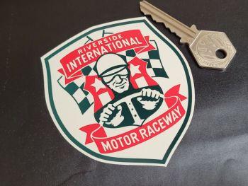 """Riverside International Motor Raceway Shield Sticker 3.5"""""""