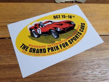 "Riverside International Raceway Grand Prix Sticker 4.5"""