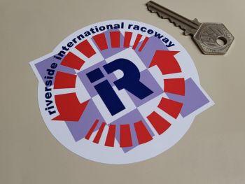 "Riverside International Raceway Shaped Sticker 4"""