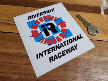 "Riverside International Raceway Sticker - 4"""
