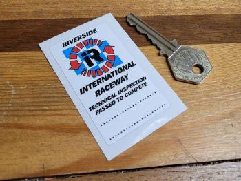 """Riverside Tech Inspection Scrutineers Sticker. 1.5""""."""