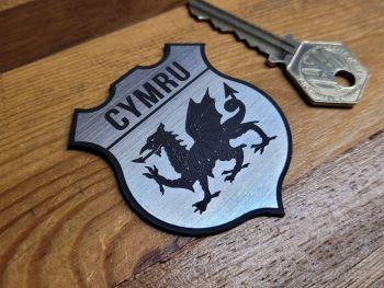 "Wales Welsh Cymru Dragon Shield Style Self Adhesive Car Badge - 2"""