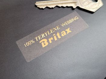 Britax 100% Terylene Webbing Seatbelt Endcap Stickers - 60mm Pair