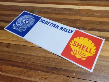 "Scottish Royal Automobile Club & Shell Rally Plate Sticker - 17.5"""
