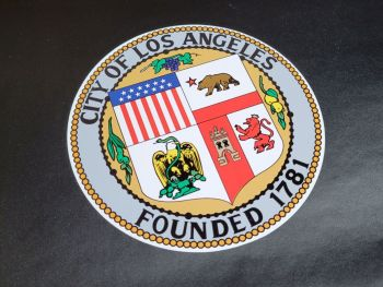 """LAPD City of Los Angeles Badge Style Pedal Car Sticker - 10"""""""