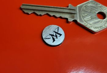 Matchless Circular Self Adhesive Bike Badge - Shaded M Style - 14mm