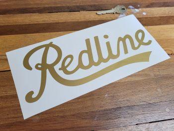"Redline Script Text Cut Vinyl Sticker - Plain - 9"""