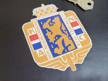 """KNAC Kon Nederlandsche Automobiel Club Logo Sticker - 4.25"""""""