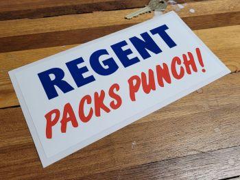 """Regent Packs Punch! Oblong Sticker 8"""""""