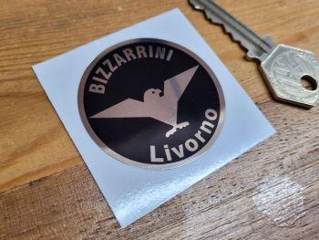 Bizzarrini Livorno Black & Foil Logo Sticker - 48mm