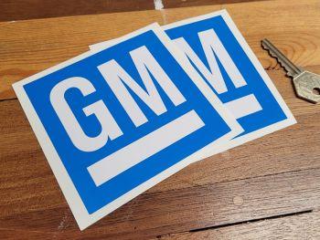 "General Motors GM Blue & White Stickers - 4"" Pair"