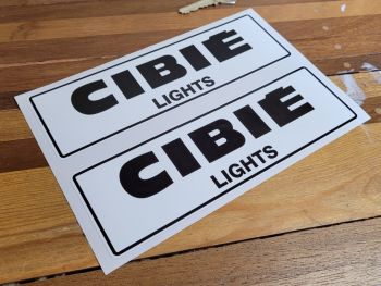 """Cibie Lights Black & White Coachlined Stickers - 8"""" Pair"""
