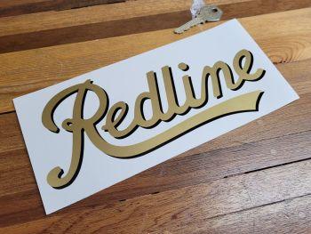 "Redline Script Text Cut Vinyl Sticker - Shaded Style - 9"""
