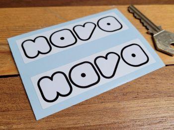 "Nava Helmets Oblong Style Stickers - 3.5"" Pair"