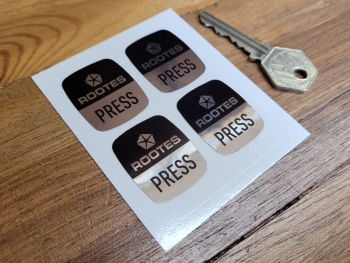 Rootes Seatbelt Press Stickers - 33mm Set of 4