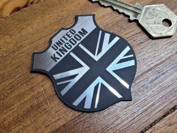"United Kingdom Union Jack Shield Style Self Adhesive Car Badge - 2"""