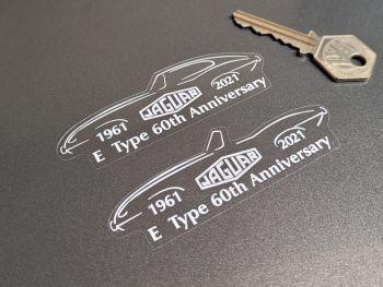 "Jaguar E-Type 60th Anniversary Sticker - 3.5"""