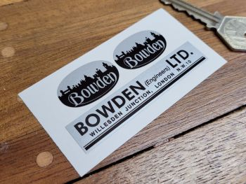 Bowden Engineers London Stickers - Set of 3