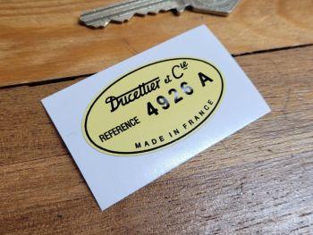 """Ducellier Window Motor Sticker - 2"""""""