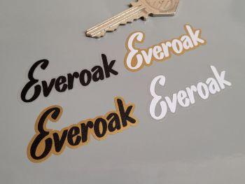 "Everoak Helmets Printed Text Sticker - 2"""