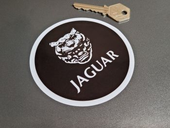 """Jaguar Growler Old Style Static Cling Sticker - 3.75"""""""