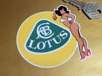 "Lotus Logo & Sexy Lady Sticker - 3"""