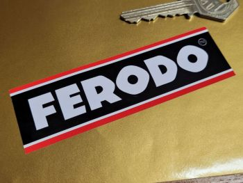 "Ferodo Black & Red Line Oblong Stickers - 4"" Set of 3"