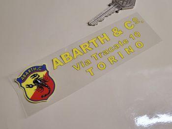 "Abarth & Co Torino Dealer Window Sticker - 5.5"""