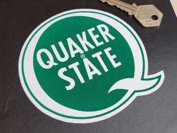 """Quaker State Q Logo Stickers - 4"""" Pair"""