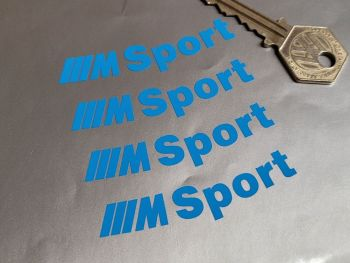 """BMW M Sport Curved Cut Text Stickers - Set of 4 - 2.75"""""""