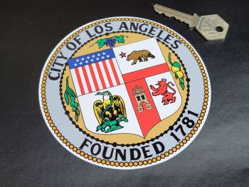 """LAPD City of Los Angeles Badge Style Pedal Car Sticker - 5"""""""