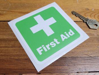 """First Aid Sticker 4"""""""