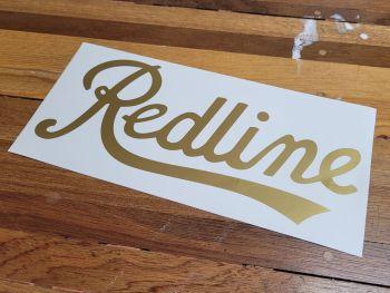 "Redline Script Text Cut Vinyl Sticker - Plain - 14"""