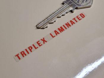 Triplex Laminated Red & Clear Window Sticker - 70mm