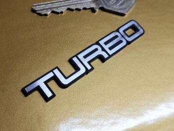 "Lotus Esprit Style Turbo Text Laser Cut Self Adhesive Car Badge - 3"" or 5.25"""
