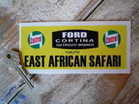 "Cortina East African Safari Rally Plate Style Sticker 5.5"""