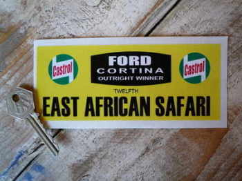 Cortina East African Safari Rally Plate Style Sticker 5.5""