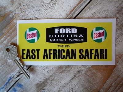 Ford Cortina East African Safari Sticker 5.5