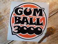 "Gum Ball 3000 Orange, Black & White Sticker 4.5"""