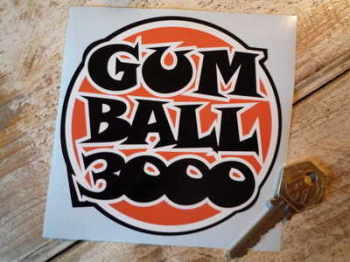 Gum Ball 3000 Orange, Black & White Sticker 4.5""