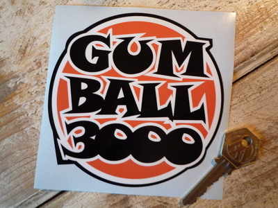 Gum Ball 3000 Orange, Black & White Sticker 4.5