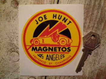 Joe Hunt Magnetos 'Preferred by Champions' Sticker 3.5""