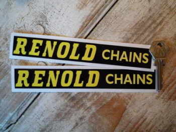 "Renold Chains Horizontal Text Stickers. 7"" Pair."